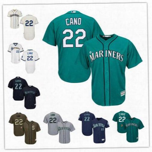 2017 Robinson Cano Green Jersey Seattle Mariners #22 Wholesale Cheap Baseball Jerseys Stitched Cool Base Felx Base Jersey Size S-6xl