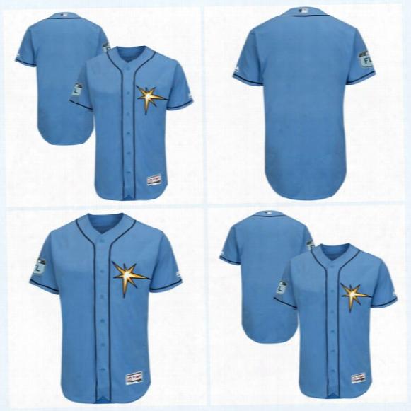 2017 Spring Training Custom Jersey 2017 Tampa Bay Rays Jersey Men Cool Base Flexbase Onfiled Baseball Jersey