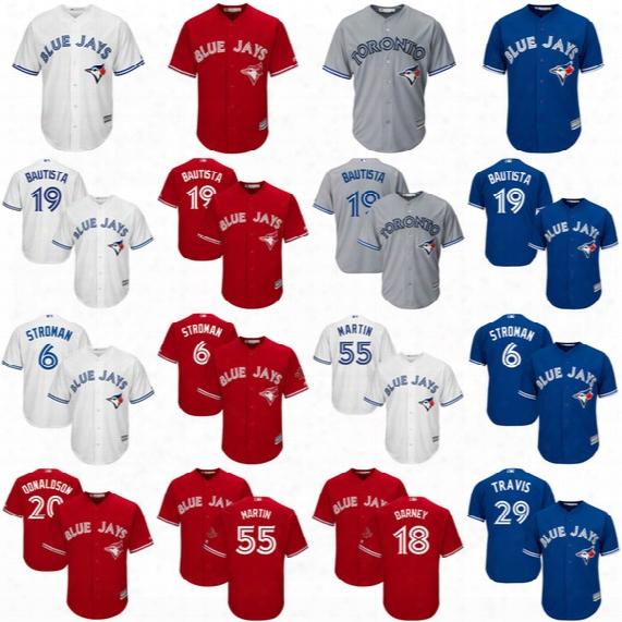 2017 Toronto Blue Jays Josh Donaldson Justin Smoak Devon Travis Troy Tulowitzki Richard Urena Anthony Alford Cool Base Baseball Jerseys