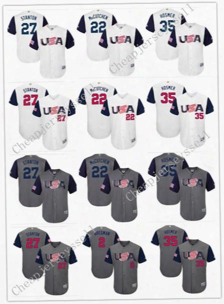 2017 Usa World Baseball Classic Wbc Jersey 10 Adam Jones 24 Andrew Miller 28 Buster Posey 27 Giancarlo Stanton 35 Eric Hosmer Jerseys