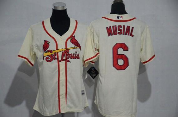 2017 Womens St. Louis Cardinals Baseball Jerseys #4 Yadier Molina 13 Carpenter 1# O.smith 6 Musial 50 Wainwright Flexnase Stitched Jersey