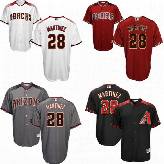 #28 Jd Martinez Jersey 2017 Arizona Diamondbacks Jersey Men Jd Martinez Cool Base All Stitched Embroidery Baseball Jersey