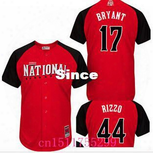30 Teams- 2015 Mlb National League All Star Game Baseball Jersey 17 Kris Bryant 44 Anthony Rizzo All Star Chicago Cubs Jersey Stitched