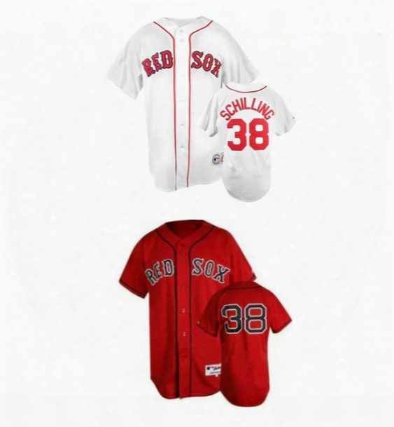 30 Teams-cheap Men's Womens Kids Boston Red Sox 38 Curt Schilling Red White Authentic Stitched Cool Base Flex Base Baseball Jerseys For Sale