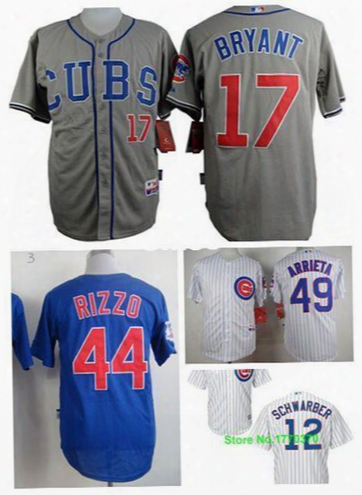 30 Teams- Kris Bryant Jersey Chicago Cubs 17 Kris Bryant Jersey Jake Arrieta Kyle Schwarber Anthony Rizzo Jersey Size S Small 46 -58 4xl