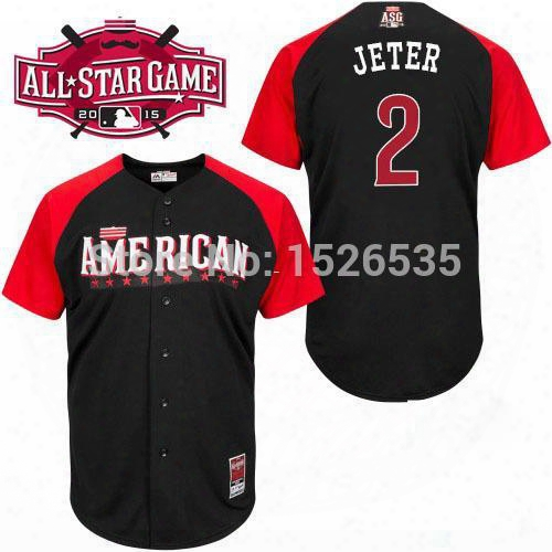 30 Teams- New American League 2015 All Star #2 Derek Jeter #25 Mark Teixeira #68 Dellin Betances Mens Authentic Baseball Jersey Cool Base
