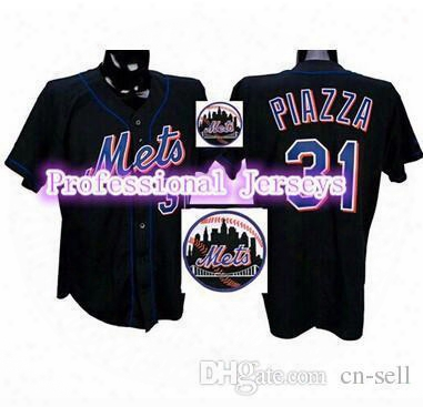 30 Teams-wholesale 2015 New Cheap Men's Jersey New York Mets Authentic #31 Mike Piazza Jersey Stitched Baseball Jersey S-3xl