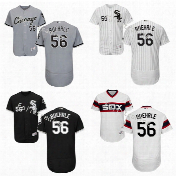 #56 Mark Buehrle Jersey 2017 Chicago White Sox Flexbase Onfield Jersey Men Mark Buehrle All Stitched Baseball Jersey