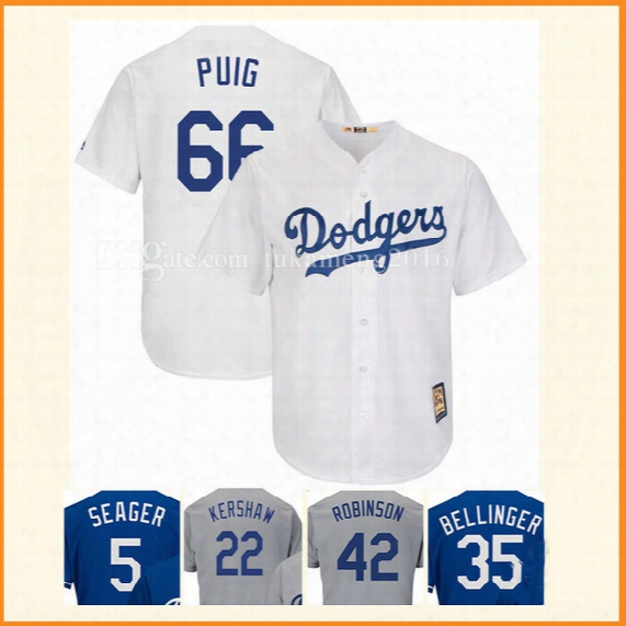 66 Yasiel Puig Baseball Jerseys Los Angeles Dodgers Mlb Embroidery Stitched Bellinger Kershaw Robinson Flex Base Cool Base Jersey
