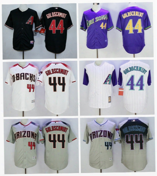 Arizona Diamondbacks 44 Paul Goldschmidt Jersey 1999 Pinstripe Men Flexbase Goldschmidt Baseball Jerseys Cheap White Black Gray Green Purple