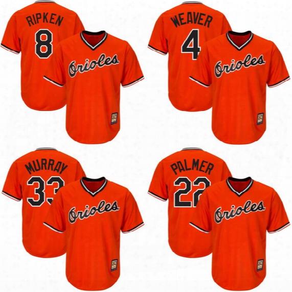 Baltimore Orioles #8 Cal Ripken Jr. #4 Earl Weaver #33 Eddie Murray #22 Jim Palmer #12 Roberto Alomar Throwback Baseball Jerseys