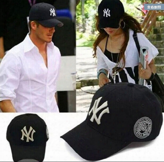 Baseball Cap Ny Embroidery Letter Sun Hats Adjustable Snapback Hip Hop  Dance Hat Summer Outdoor Men d4961c9effde