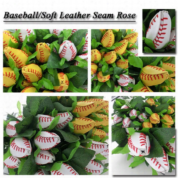 Baseball Softball Gifts Rose Softball&baseball Flowers Made From Quality Leather Softball Rose Gift Idea Baseball Rose