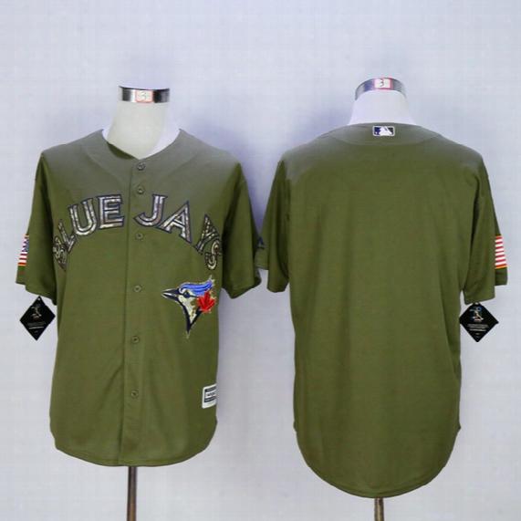 Blue Jays Blank Army Green Baseball Jerseys Toronto Baseball Shirts New Collection Sports Jerseys Cheap Men's Uniforms Hot Sale Mens Jerseys