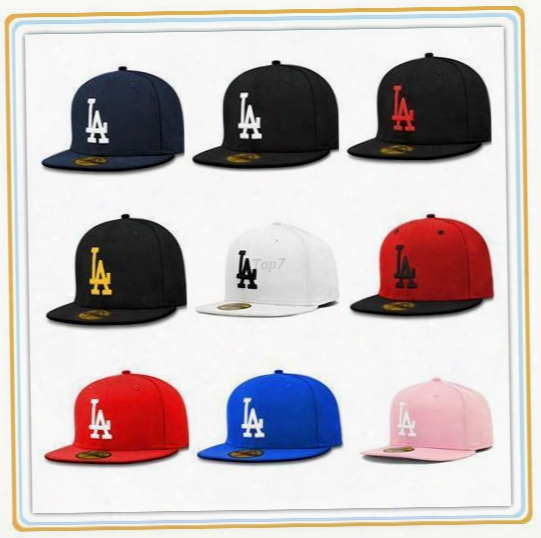 Brand Fitted La Baseball Caps Bone Strapback Bones Snapback Caps Snap Back Casquette Gorras Basketball Hip Pop Cap For Men Women
