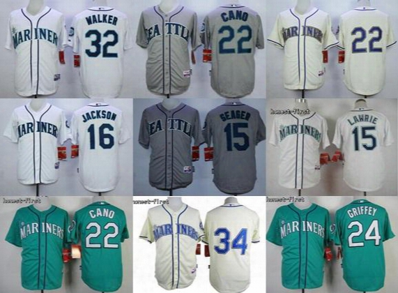 Cheap Kids'/women's/men's Seattle Mariners Jersey#24 Ken Griffey#32 Malker #22 Kano#16 Jackson #15 Seager &#34&#22 Cool Base Baseball Jersey