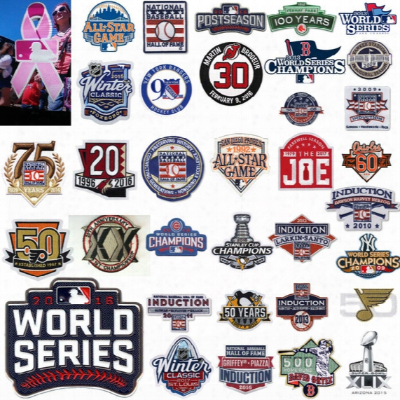 Cheap Wholesale Mothers Day Pink Cancer Ribbon Patches Baseball Basketball Football Hochey Patches Any Others Patches