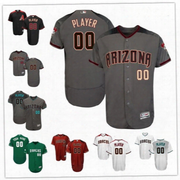 Custom Flex Base Arizona Diamondbacks 44 Goldschmidt 28 Martinez Lamb Ray Gray White Black Red Stitched Any Name Number Mens Jerseys S,4xl