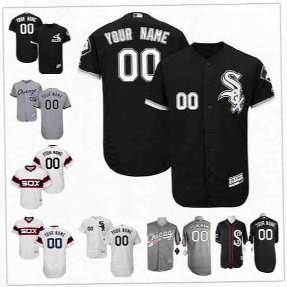 Custom Flex Base Chicago White Sox 7 Anderson Moncada Jose Abreu Thomas Fisk Gray Back Pullover Stitched Any Name Number Mens Jerseys S-4xl