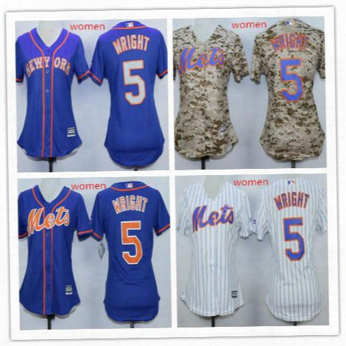 David Wright Baseball Jersey Women's New York Mets #5 David Wirght White Home Stitched Mlb Majestic Cool Base Jersey