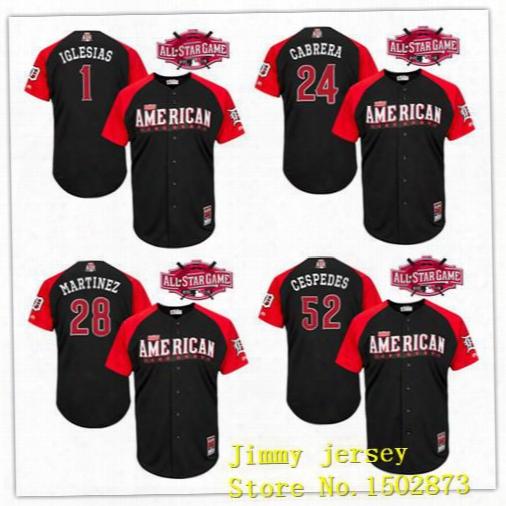 Detroit Tigers Jerseys, 2015 All Star Miguel Cabrera Jd Martinez Yoenis Cespedes 1 Jose Lglesias American League Jerseys