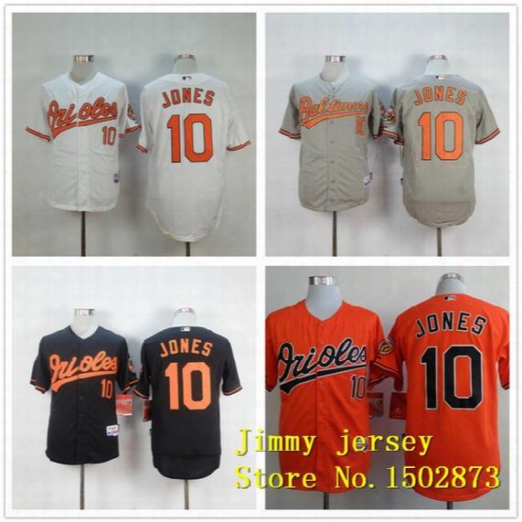 Factory Outlet Custom Men's Women's Kid's Baltimore Orioles 10 Adam Jones White Black Orange Grey Cool Base Flex Base Cheap Baseball Jerseys