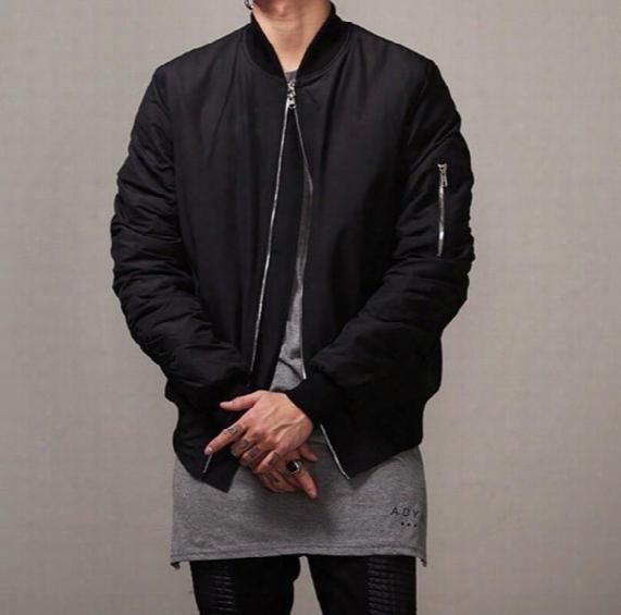 Fashion Mens Military Style Bomber Hip Hop Jacket Black Mens Slim Fit Hip Hop Varsity Baseball Jacket N035