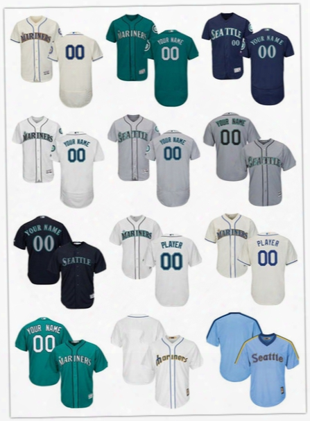 Free Shipping Baseball Jersey Seattle Mariners Custom Jersey Personalized Jersey Any Name ,any Number , Stitched Size S-6xl