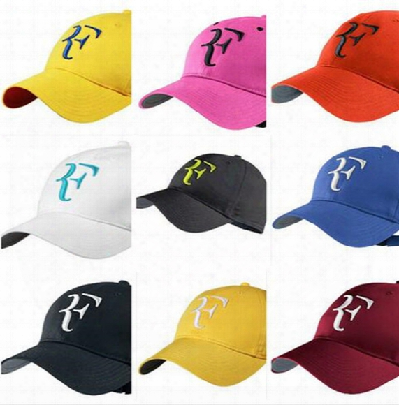 Free Shipping Classic Federer Rf Tennis Masters Football Basketball Baseball Sports Caps Cotton Cap Adjustable Sun Hat