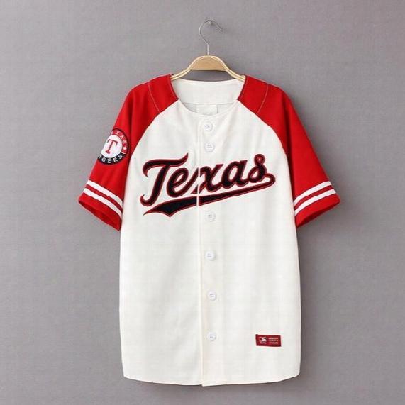 Hip Hop T Shirt Women Men Baseball T Shirt Streetwear Unisex Korean Style Harajuku Punk Baseball Jerseys T Shirts