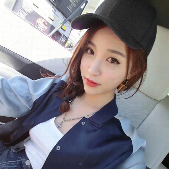 Hot! 2017 Adjustable Pure Color Blank Curved Plain Baseball Caps Good Visor Hat
