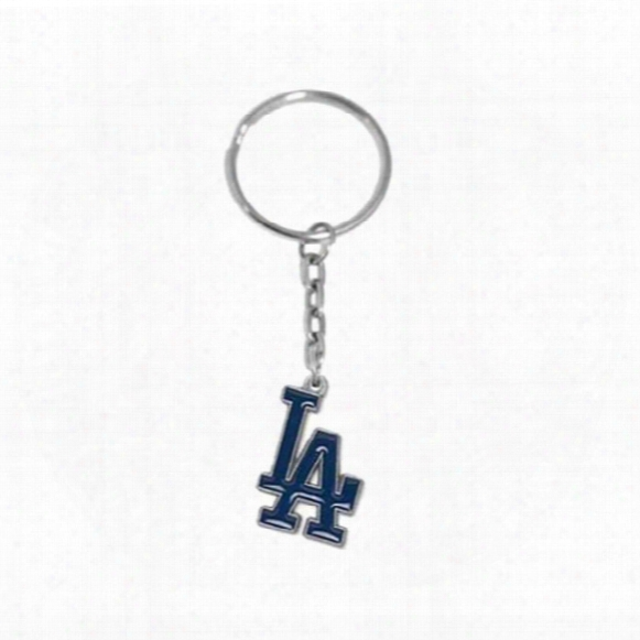 Hot Sale Alloy With Enamel Mlb Baseball Team La Dodgers Logo Charm Car Key Chain Popular Men Jewelry