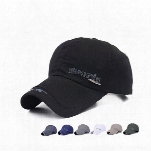 Hot Sale Cotton Thin Tissue Summer Baseball Cap Men's Movement Letter Hat Splicing Hat Elderly Sun Hat Wmb063