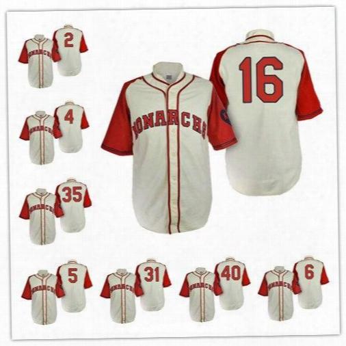 Kansas City Monarchs 2 Escobar 5 Brett 4 Gordon 6 Cain 8 Moustakas 13 Perez 35 Hosmer 16 Bo Jackson 1946 Cream Throwback Jersey Size S-6xl