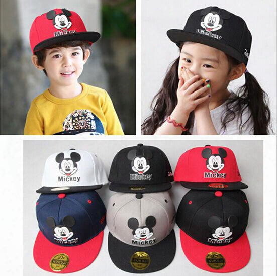 Kids Cartoon Cute Mickey Baseball Cap Mouse Snapback Hats Brand Hip-hop Hat Bone Aba Reta Gorras Kids Chapeau Casquette