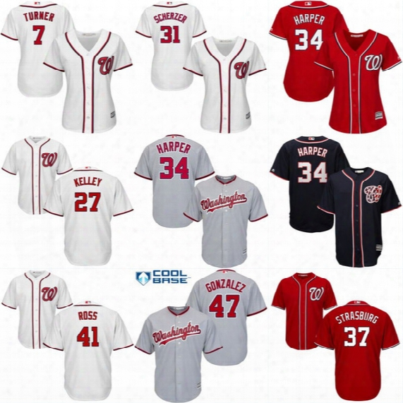 Lady And Youth Washington Nationals Jersey 2 Adam Eaton 3 Michael Taylor 27 Shawn Kelley 41 Joe Ross 57 Tanner Roark Baseball Jerseys