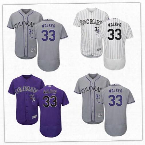 Larry Walker Baseball Jerseys Men&#03g;s Colorado Rockies #33 Larry Walker Retired White Home Stitched Mlb Majestic Flex Base Jersey