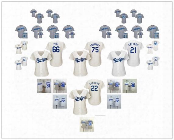 Los Angeles Dodgers Jersey Womens Baseball Jersey 16 Ethier 21 Greinke 22 Kershaw 23 Gonzalez 31 Pederson 42 Robinson Jerseys 66 Yasiel Puig