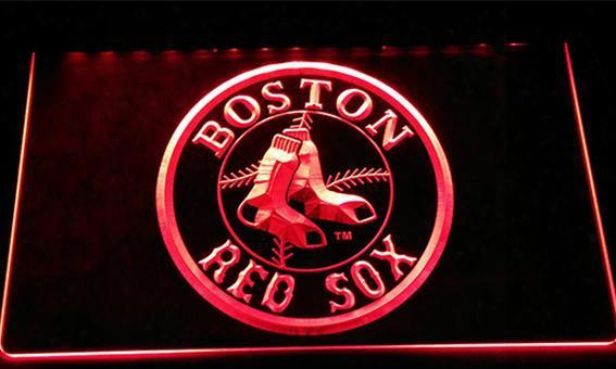 Ls156-r Boston Red Sox Baseball Bar Neon Light Sign Decor Free Shipping Dropshipping Wholesale 6 Colors To Choose