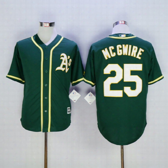 Mark Mcgwire Oakland A's Jersey Oakland Athletics #25 Mark Mcgwire Cool Base Jerseys Green Size M-xxxl