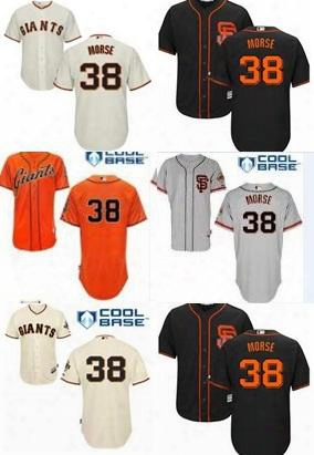 Men Women Youth 38 Michael Morse San Francisco Giant Cool Baseball Jerseys 2014 World Series Patch Stitched Jerseys Black Orange Cream Grey