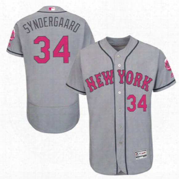 Men's 2016 Ny Mets #34 Noah Syndergaard Majestic New York Mlb Baseball Jerseys Black White Orange Blue For Free Shipping