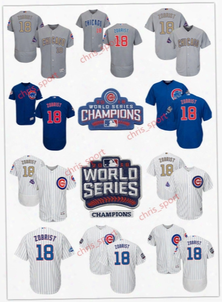 Men's Chicago Cubs Ben Zobrist Mvp Majestic 2017 Gold Program Cool Base Player Jersey White/royal/gray Flexbase Jerseys With Patches