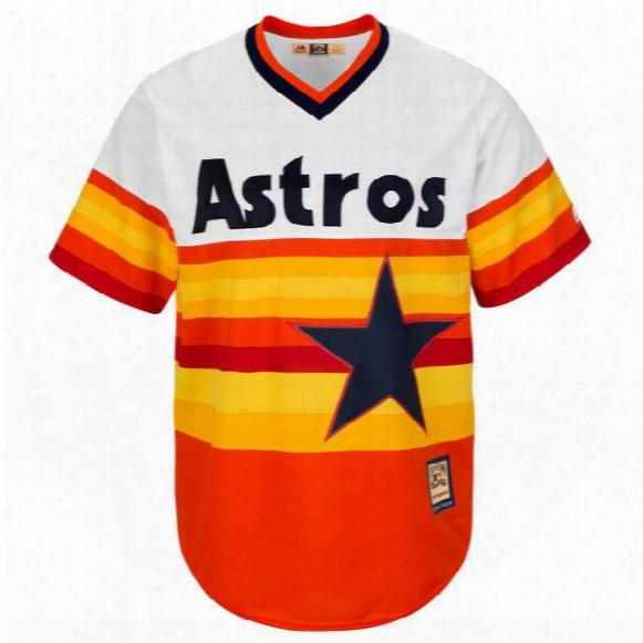 Men's Houston Astros #27 Jose Altuve #1carlos Correa #34 Nolan Ryan Majestic Orange Alternate Cool Base Cooperstown Collection Player Jersey