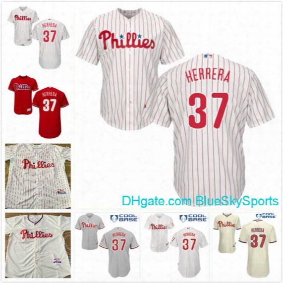 Men's Philadelphia Phillies Custom Baseball Jerseys 37 Odubel Herrera Flexbase Personalized Cool Base Jersey Size M-3xl