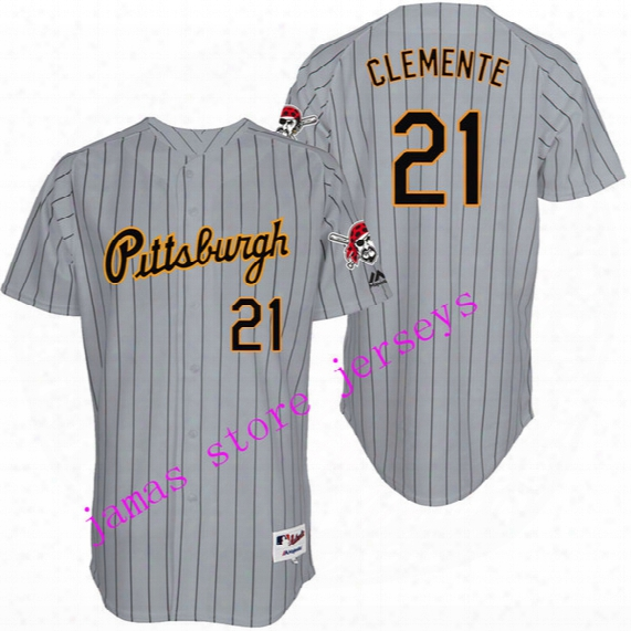 Men's Pittsburgh Pirates 9 Mazeroski 8 Stargell 21 Clemente 22 Mccutchen 24 Bonds 27 Kang 39 Parker Cooperstown Collection Jersey