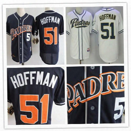 Men's San Diego Padres #51 Trevor Hoffman Navy Blue 1998 Throwback Cooperstown Collection Stitched Mlb Mitchell & Ness Jersey