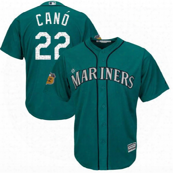 Men's Seattle Mariners 22 Robinson Cano 34 Felix Hernandez 2017 Spring Training Cool Base Authentic Flex Base Player Jersey Free Shipping