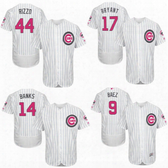 Mens Chicago Cubs Jerseys7 Kris Bryant 44 Rizzo 14 Banks Baseball Jersey Memorial Day Mother Day Jerseys Stitched Size S-4xl
