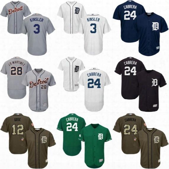 Mens Detroit Tigers Jersey 1 Jose Iglesias 3 Ian Kinsler 9 Nick Castellanos 41 Victor Martinez 48 Torii Hunter Authentic Baseball Jerseys